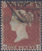 1854 1d Red SG17 Plate 167 'GF'